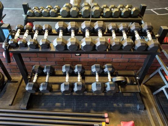 SPRI Dumbell Rack With Dumbbells