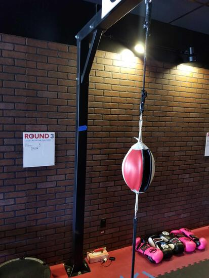 Double ended Reaction Ringside Speed Boxing Punching Bag On Steel Frame