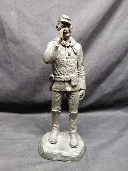 Statue says Michael Garman. Calvary Soldier 12 in tall.