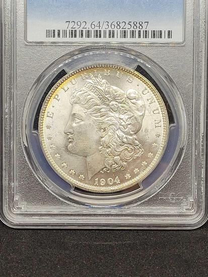 Morgan silver dollar 1904-O MS64 PCGS SLABED FROSTY COIN