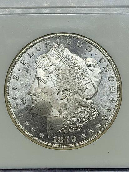 Morgan silver dollar 1879-s MS64 slabed old date