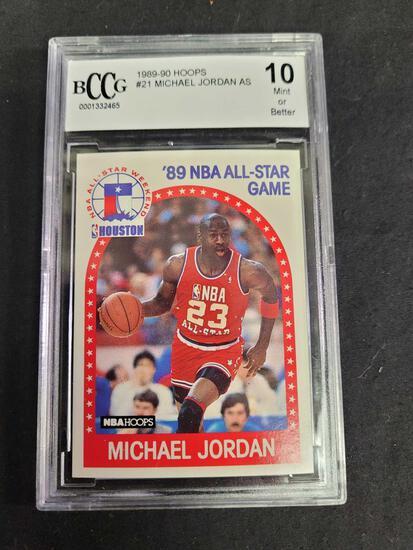 1989-90 Hoops #21 Michael Jordan AS mint 10 or better BCCG