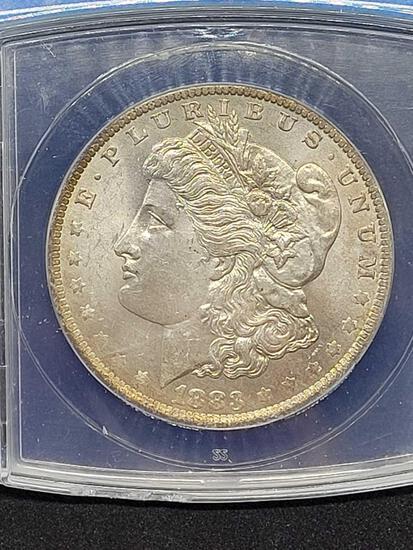 1883-o Morgan silver dollar MS64 Graded slab