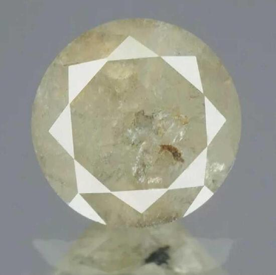 Diamond round .58ct pink/grey natural mined stone with IGR certificate nice larger size stone