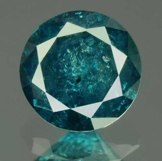 Diamond round .29ct blue fire stunning beauty with IRG gem cert nice color