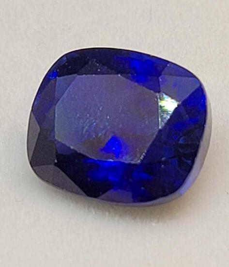 Blue Sapphire 8.05ct cushion cut Gemstone with GGL id card