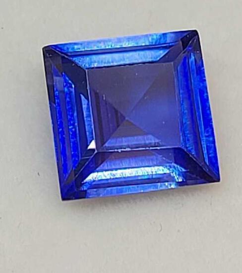 Blue Sapphire 4.32ct square cut Gemstone