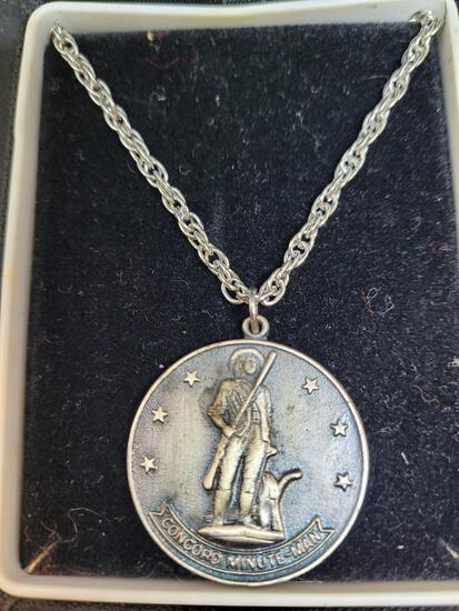 Concord minute man necklace 1776-1976