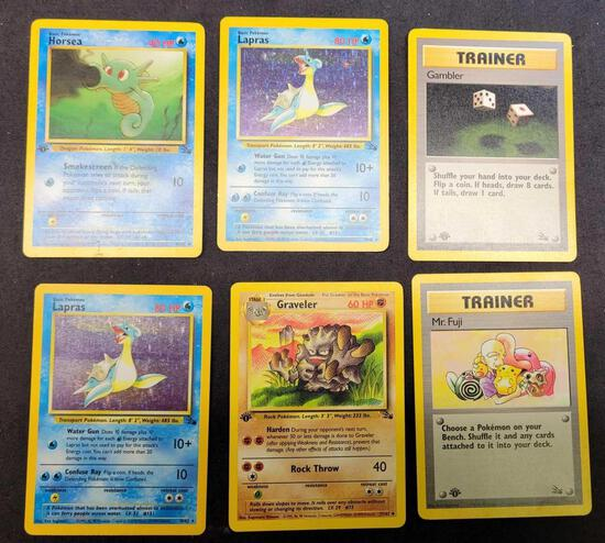 Pokemon cards Fossils 1st ed holo