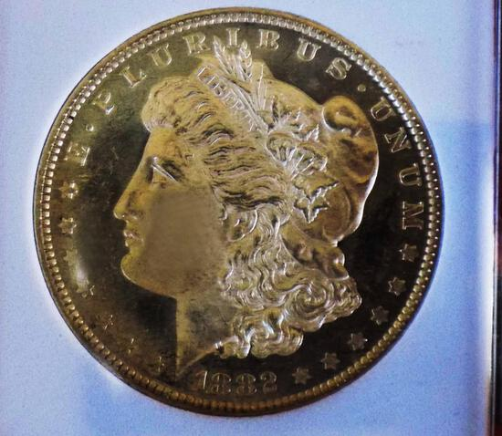 Morgan silver dollar 1882 O/O gem BU DMPL CAMEO MONSTER MIRRORS MS++++++ DDR