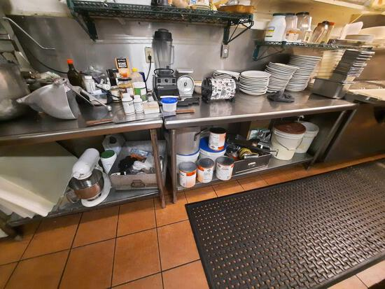 Stainless Steel Prep Line Tables