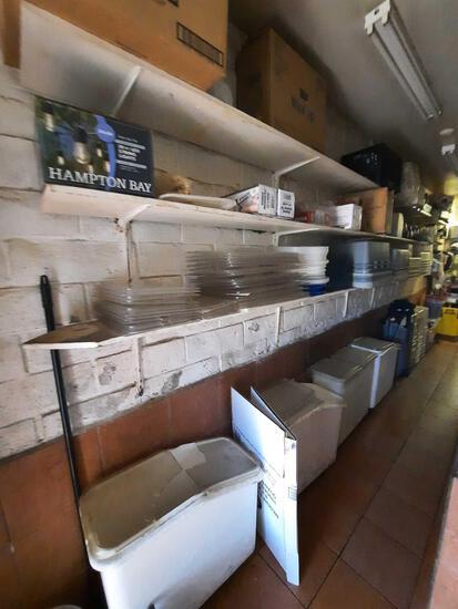 Restaurant Inventory, Plates Buckets Bins...