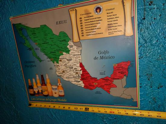 Map of Modelo Beers - 20in Wide