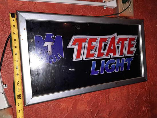 Tecate Light Beer Light-Up Sign