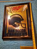 Miller High Life San Diego Chargers Beer Sign 20in Tall