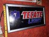 Tecate Light Beer Light-Up Sign