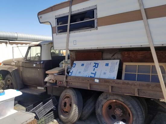 1965 Ford Service Truck Vin F60MR662960 Plate 6R74596 includes Camper