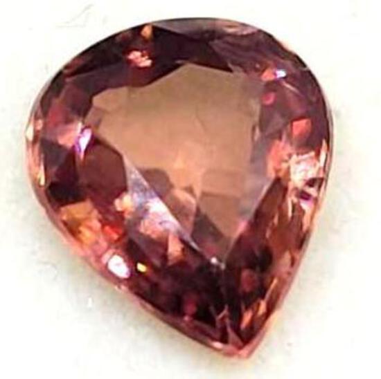 Pink Pear Cut Jadeite 1.70ct Gem Stone 6.66mm