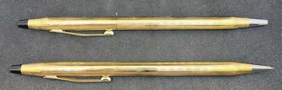 10kt Gold Filled Cross Pen & Pencil