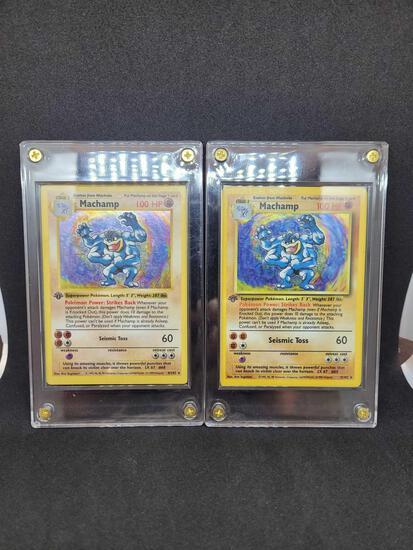 Pokemon cards 1st edition Machamp's 1 shadowless