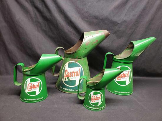 Vintage Castrol motor oil cans