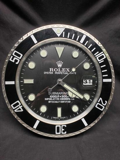 Rolex Dealer Display Electric Wall Clock