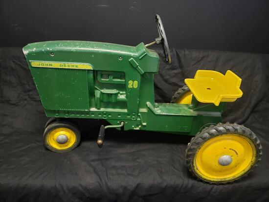 Vintage John Deere Childs Tractor 24 x 40 in
