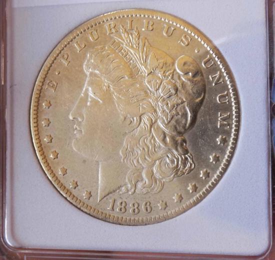 Morgan silver dollar 1886 O BU++ Frosty Ultra Rare date Premium Slabed PQ