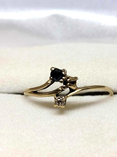 14kt Yellow Gold Ruby & Diamond Ring .25ctw Natural & Pure Gold