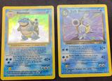 Pokemon Cards Blastoise Base Set Holo & Dark Blastoise Team Rocket 2 Units