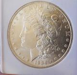 Morgan Silver Dollar 1884-P Gem BU Blazing Frosty White Slabbed Original Beauty