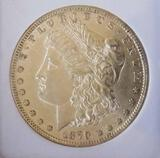 Morgan Silver Dollar 1879-P Frosty UNC Slabbed Premium Better Date Dollar