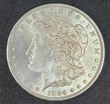 1884-O Morgan Silver Dollar Gem Brilliant Uncirculated, Better New Orleans Date, .7734 oz ASW