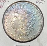 1889 Morgan silver dollar Rainbow tone