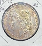 1898-p Morgan silver dollar Rainbow tone