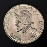 1947 Panama 1 Balboa Gem Uncirculated 90% Silver Crown Dollar Size Coin