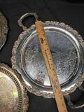 Baroque by Wallace, Oneida, & Lunt A-91 Silverplate Platters