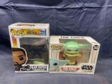 Funko Pops Black Panther & Baby Yoda 2 Units + Bonus Box Full McDonalds Kids Meal Toys