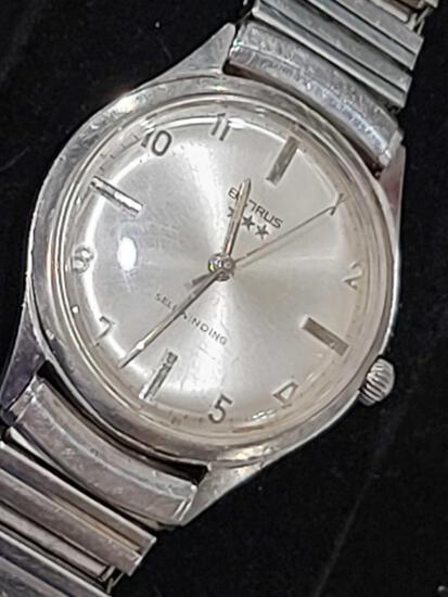 Benrus early vintage, Selfwinding, Waterproof, Dustproof, Men's Stainless Steel wristwatch