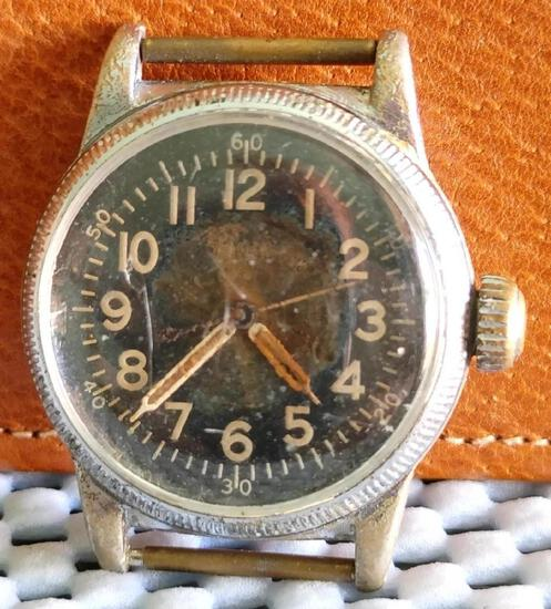 WWII Elgin Army Air Corps Pilot's Wristwatch authentic, runs, needs service