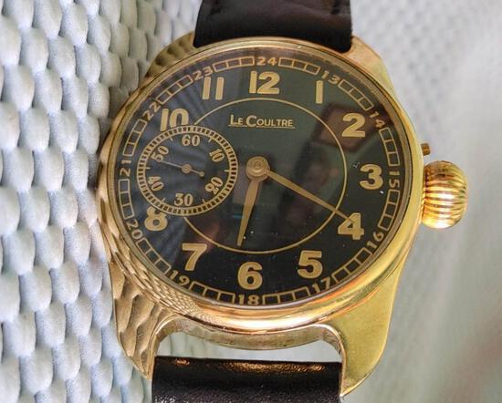 1906 LeCoultre Pocket watch Conversion 18 carat gold plaque