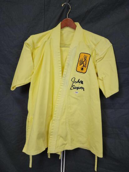 1973 Enter the Dragon w John Saxon & Bruce Lee. Original GI Signed w COA PSA DNA #W40770