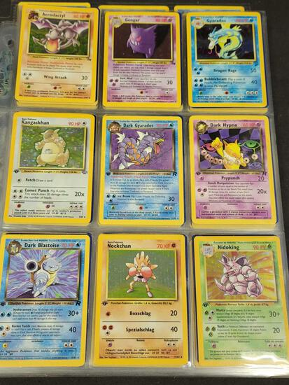 Pokemon cards WOTC 1st edition, shadowless, holo,