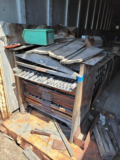 Cabinet Shelving Full of Hardware Number Letter type