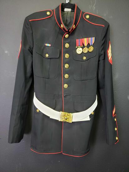 Marine Sergeant Dress Uniform 44 L and Hat