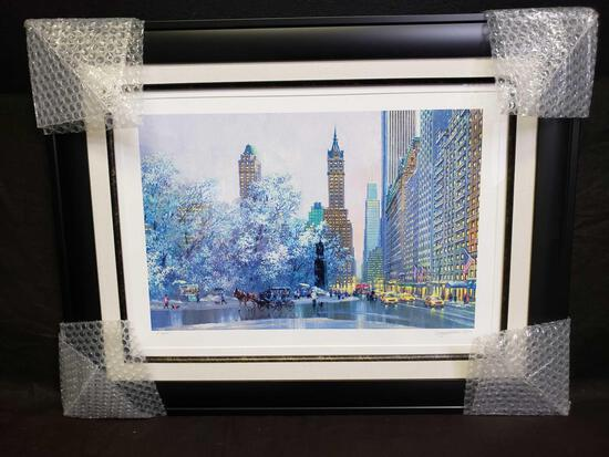 Alexander Chen Central Park S and Center Drive Seriolithograph color on paper. Signed w COA