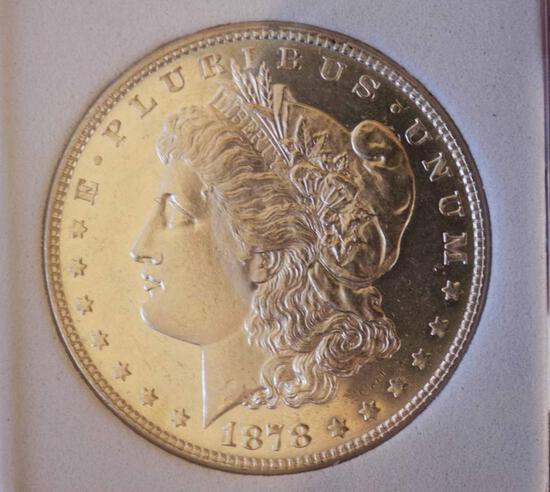 Morgan silver dollar 1878 7/8tf gem proof deep cameo dmpl monster huge rare find