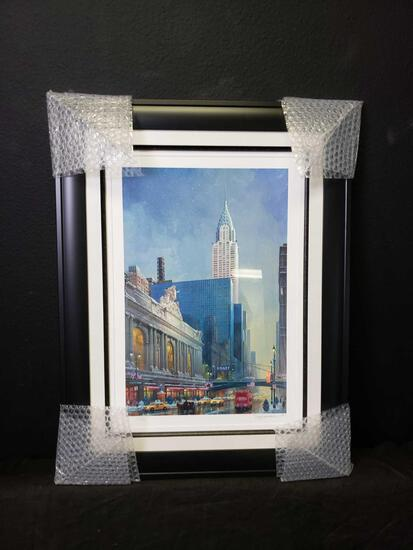 2014 Alexander Chen. Chrysler Building Seriolithograph color on paper. COA & Appraisal Signed