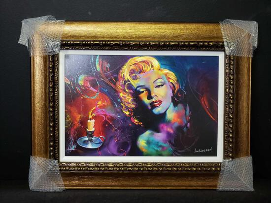 2020 Jim Warren Colors of Marilyn Monroe. Giclee color on Canvas w COA & Appraisal Signed
