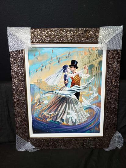 2019 Michael Cheval. Dance with the Wind w COA & Appraisal. Signed